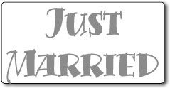 Just Married Magnetic Car Signs, Hand  2 Text 24x12 in.