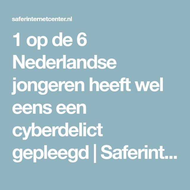 1 op de 6 Nederlandse jongeren heeft wel eens een cyberdelict gepleegd | Saferinternetcenter.nl