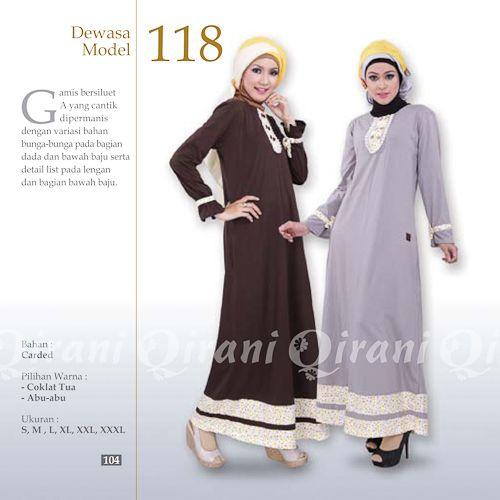 Baju Gamis Qirani Model 118 Terbaru modern dan modis