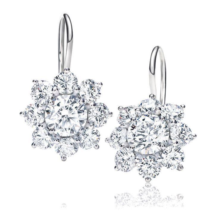 Cool Harry Winston Sunflower Diamond Earrings Photo Diamond Earrings Cool Diamond Earrings H Sunflower Earrings Sunflower Jewelry Women S Earrings