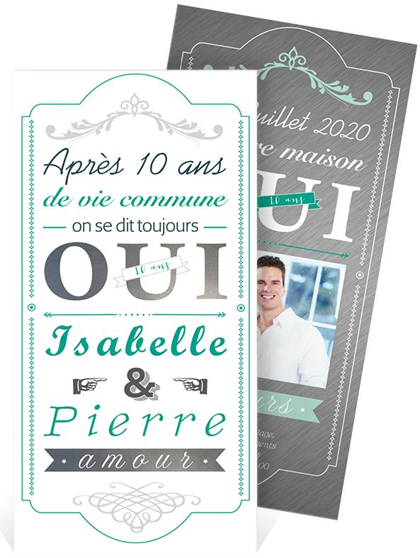 Fabuleux 46 best Invitation anniversaire de mariage images on Pinterest  IA81