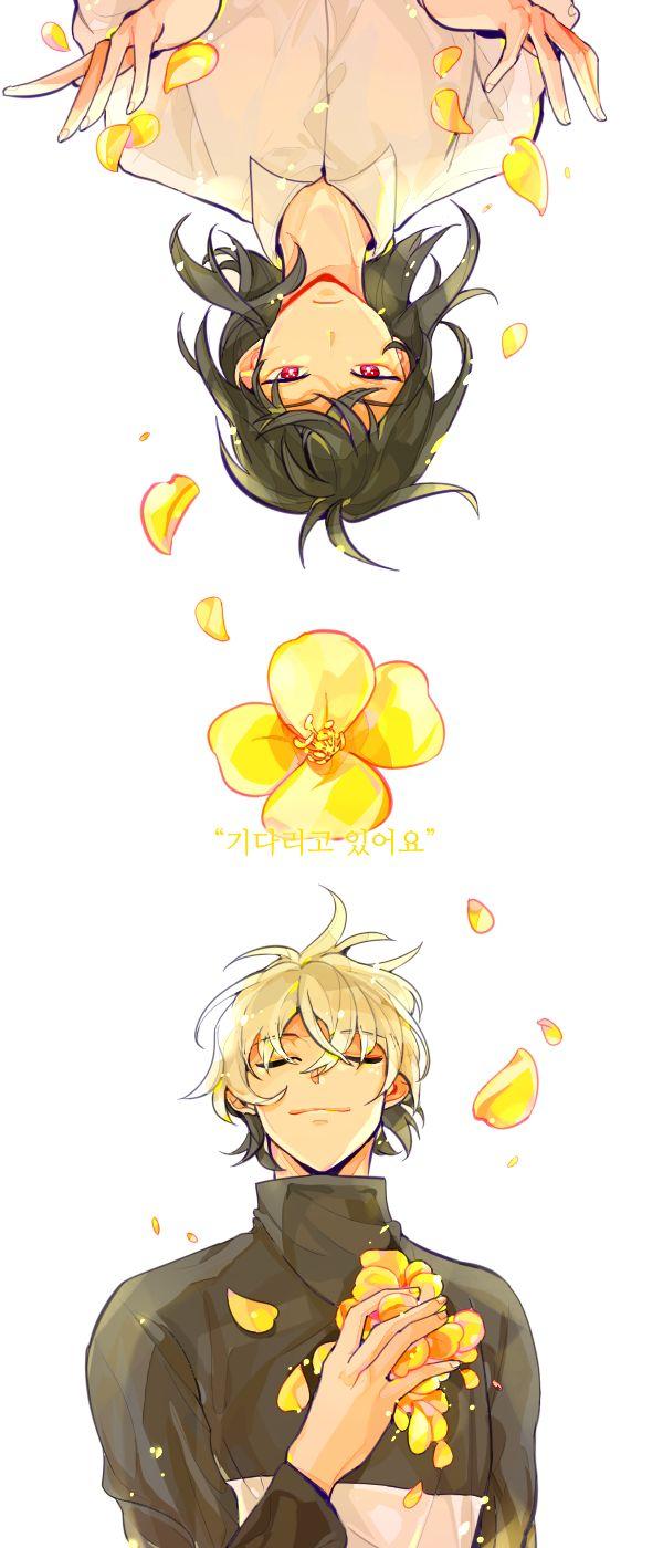 헉 지각;; 꽃 주제로 그리던게 있었는데 마침 전력 주제가 꽃이어서 완성했어요ㅠㅁㅠ..! 밑색다음부터 전력했어요 ~ 달맞이꽃으로 귀능다나, 꽃말은 기다림 #이영싫_전력60분