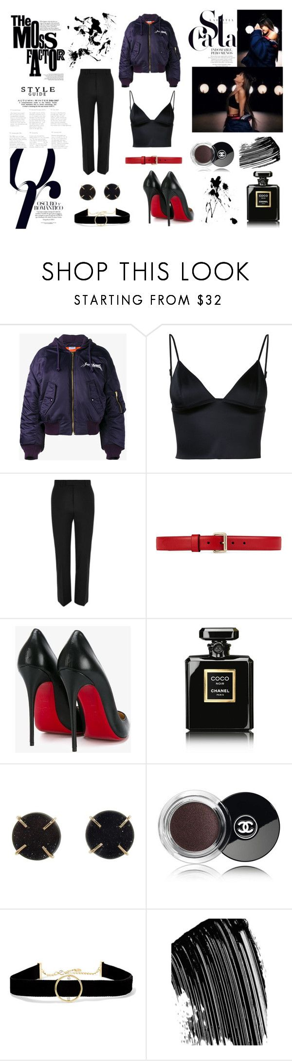 """Ariana Grande - EVERYDAY"" by alina-zaynullina ❤ liked on Polyvore featuring T By Alexander Wang, River Island, Gucci, Christian Louboutin, Nico, Chanel, Melissa Joy Manning and Anissa Kermiche"