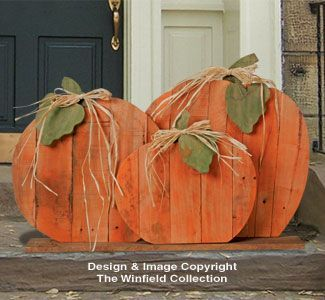 Pallet Wood Pumpkins Pattern - Sooo Cute!!!