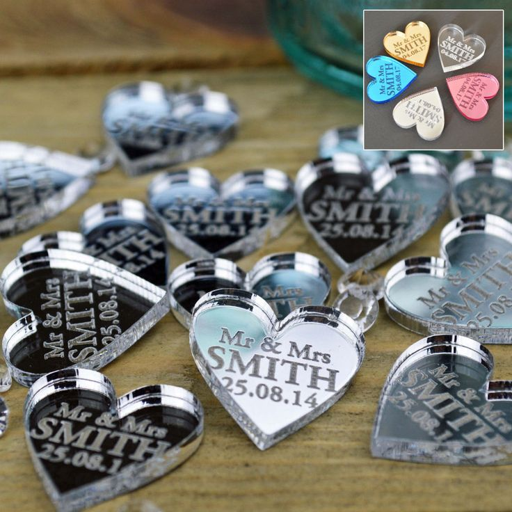 50 Personalised Wedding Favours Confetti Table Centrepieces Decorations Gifts #SecretCreation