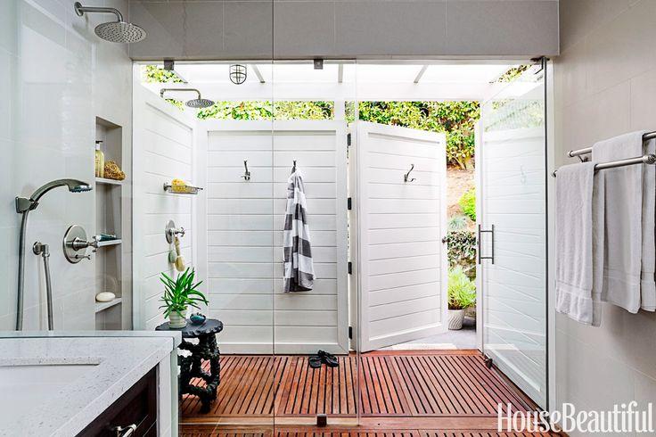 gorgeous indoor/outdoor shower