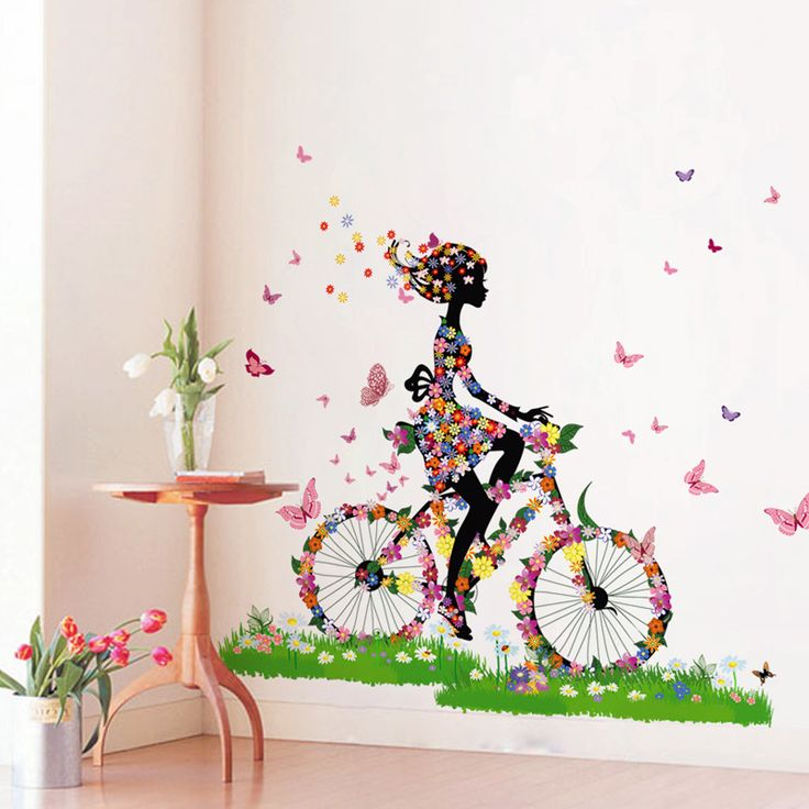 DIY Removable Wall Stickers Affixed Backdrop Of Large Pastoral Style Sofa Wall  Stickers DIY Creative Corridor Part 75