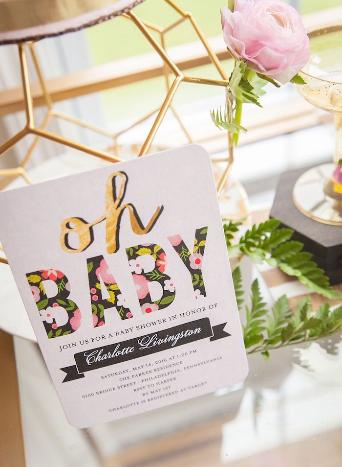 Fashionable Baby Shower Gifts : Best floral baby shower ideas on girl