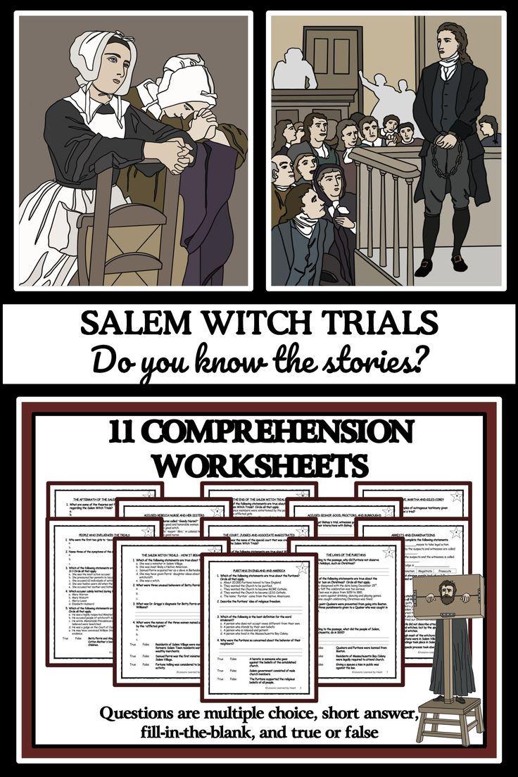 Salem Witch Trials Reading Passages Comprehension Questions Reading Passages Comprehension Questions Comprehension