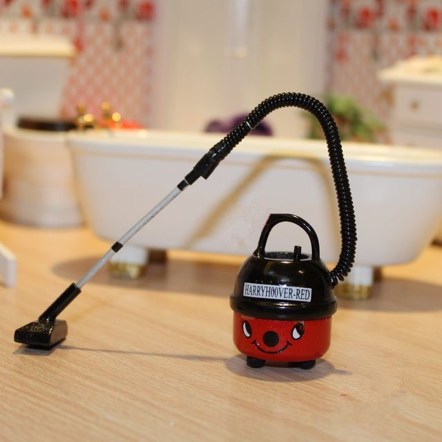 Dollhouse Miniature 1:12 Scale Accessory Modern Vacuum Cleaner house wife work