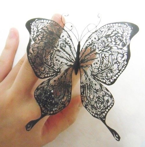 Japanese paper cut butterfly