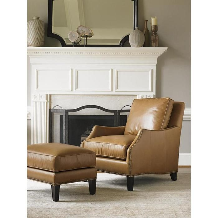 Kensington Place Ashton Leather Chair In Brown