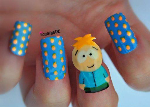 South Park Nail Art - Butters by KayleighOC.deviantart.com on @deviantART