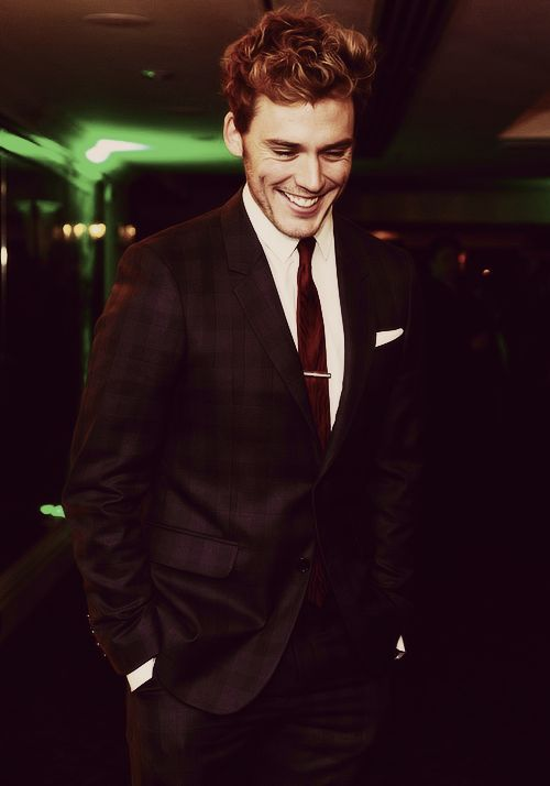 "Sam Claflin. I totally forgot to put him on my ""People"" and ""Take A Brit, Dye Him Black"" boards."
