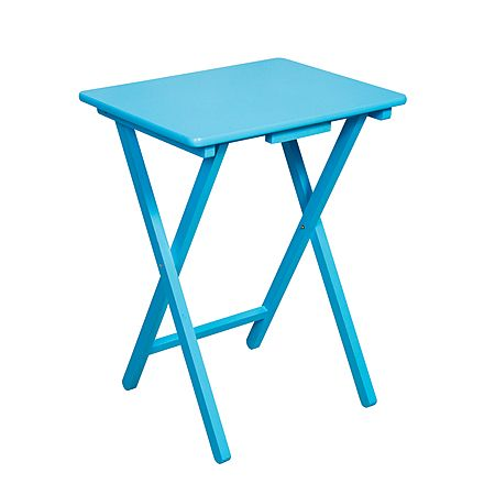 Solano Folding Table Blue 42cm x 37cm x 60cm - Tables - Furniture Accessories - Furniture - The Warehouse