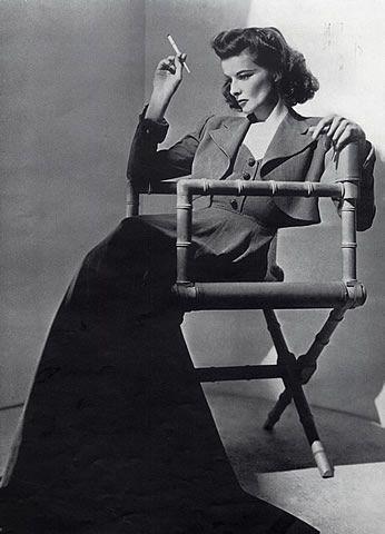 images of katharine hepburn | Katharine Hepburn 1940 Portrait, Cigarette Holder