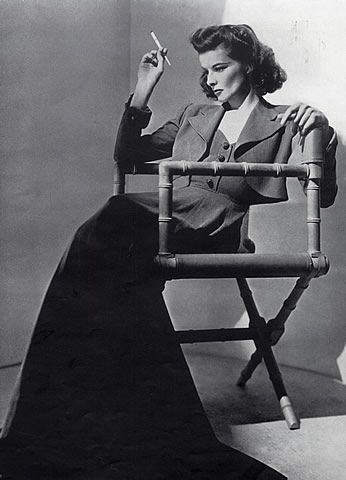 images of katharine hepburn | Katharine Hepburn 1940 Portrait, Cigarette Holder