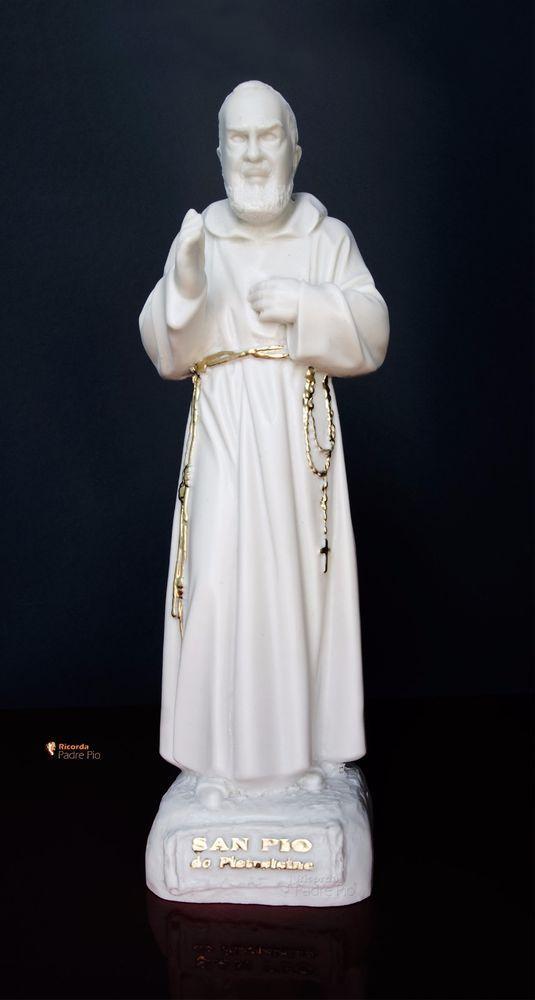 Statua di Padre Pio  29cm, resina, effetto Capodimonte