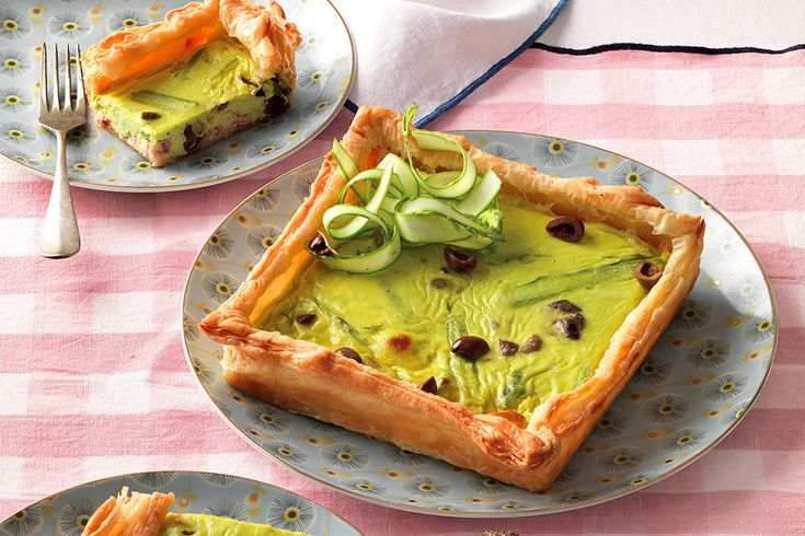 Torta salata di asparagi e prosciutto
