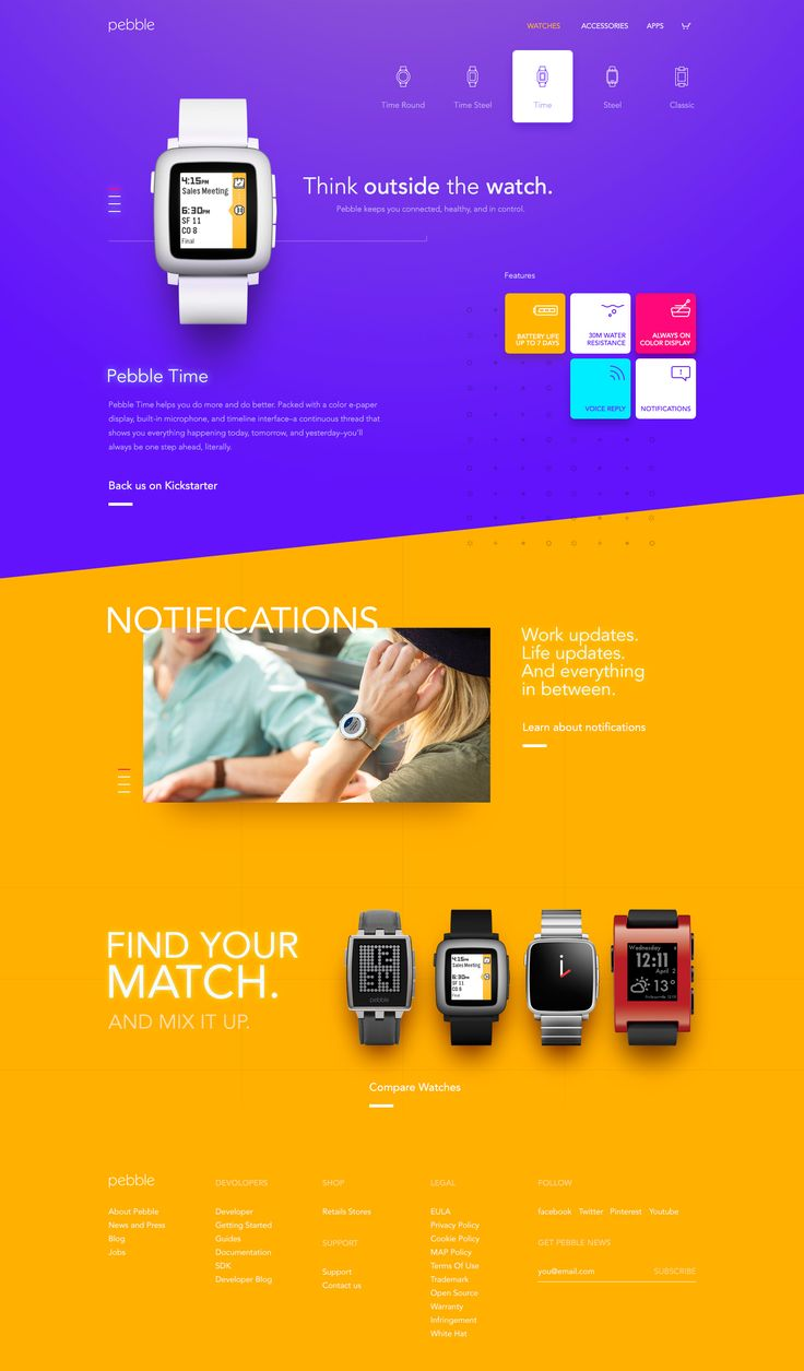 Pebble Site – User interface by buatoom
