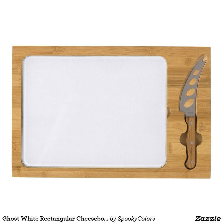 Ghost White Rectangular Cheeseboard - #windywinters #zazzle