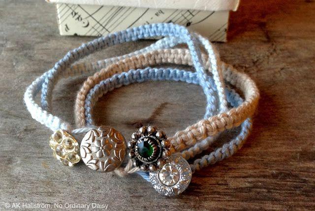 No Ordinary Daisy pysselblogg: DIY Makramé-armband