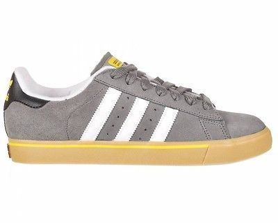 Adidas CAMPUS VULC Dark Midnight Cinder Gray Yellow Skate (120) Men's Shoes