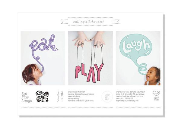 Eat Play Laugh by butawarna, via Behance