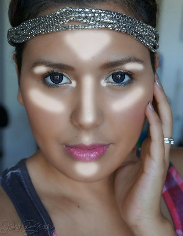 Where to put Highlighter for a natural airbrushed glow, using Smashbox Soft Lights - via Ishah x Beauty