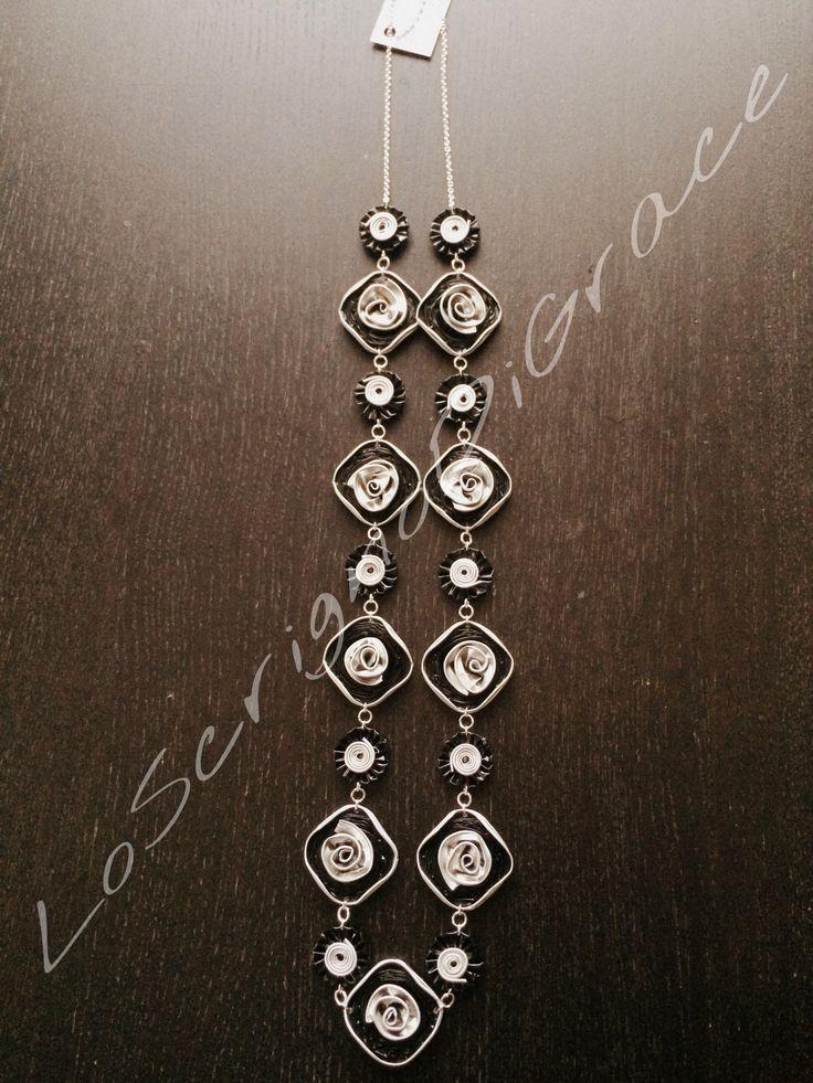 collana capsule nespresso quadrate nere argento