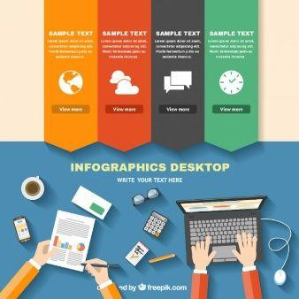 graphic design downloads - Infographic desktop