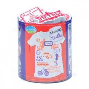 Tampon tampo textile paris Aladine customisation