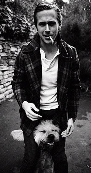 Ryan Gosling--Is it bad to want to be the dog?