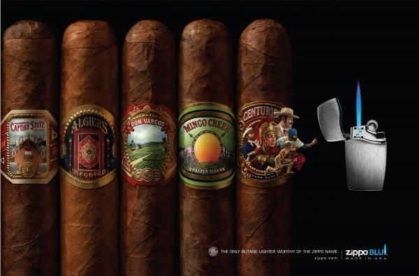 ZIPPO CIGAR LABELS. Agency : Brunner Pittsburgh