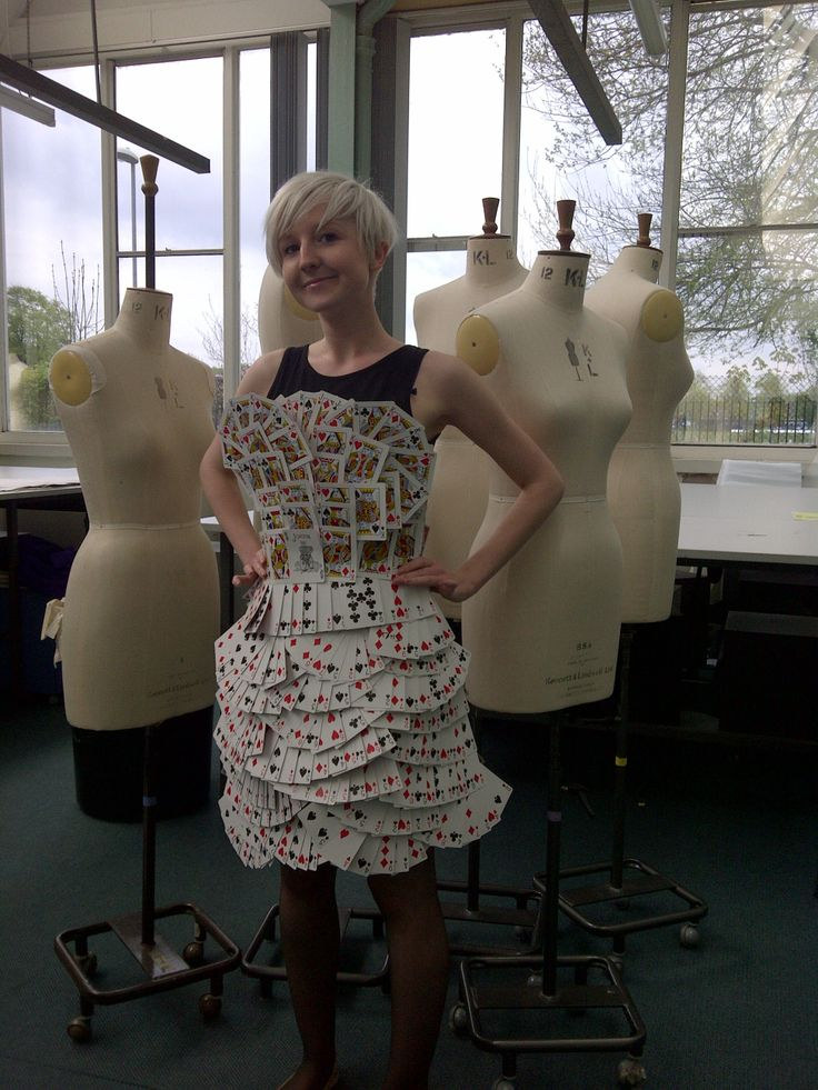 Playing card dress- now finished