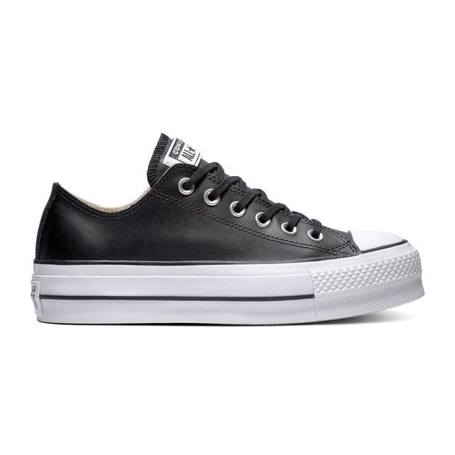 Chuck Taylor All Stars Lift Clean Leather Platform Trainers