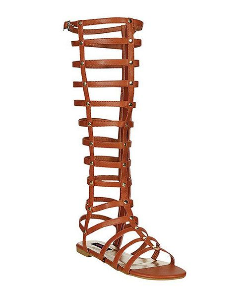 Take a look at the Chestnut Maximus Gladiator Sandal on #zulily today!