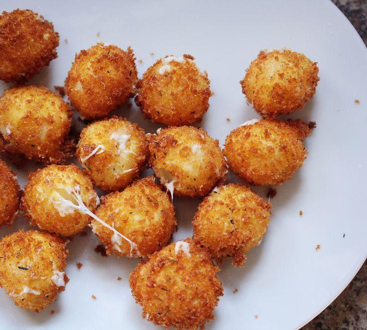 Mozzarella fried cheese balls | Appetizers Anyone? | Pinterest