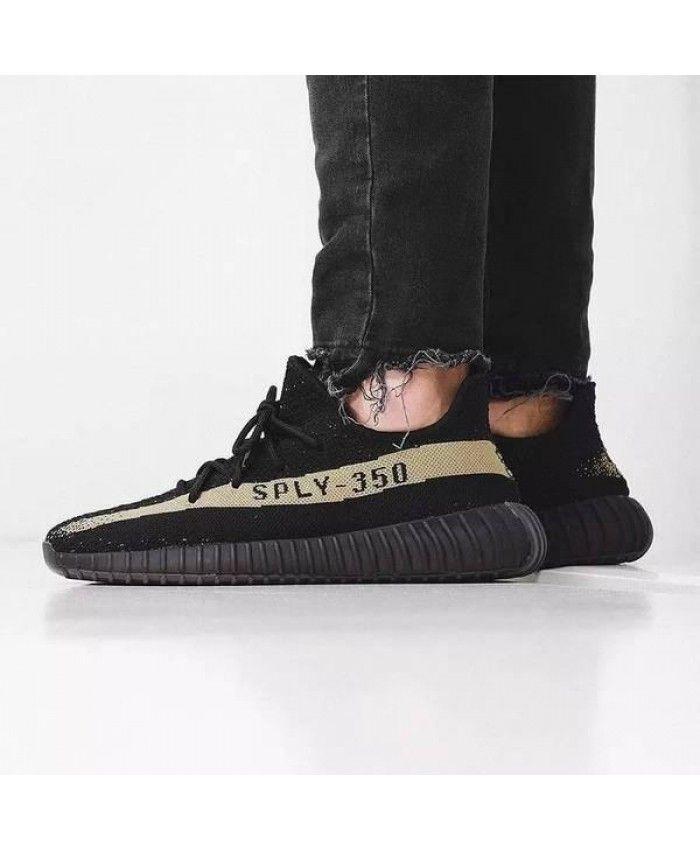 b914f5b6c7ea51 Adidas Yeezy Boost 350 V2 Black Green Shoes