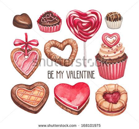 Valentine's Day illustrations collection by Sundra, via Shutterstock