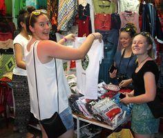 Who doesn't love shopping in Vietnam #VietnamSchoolTours #HoiAn