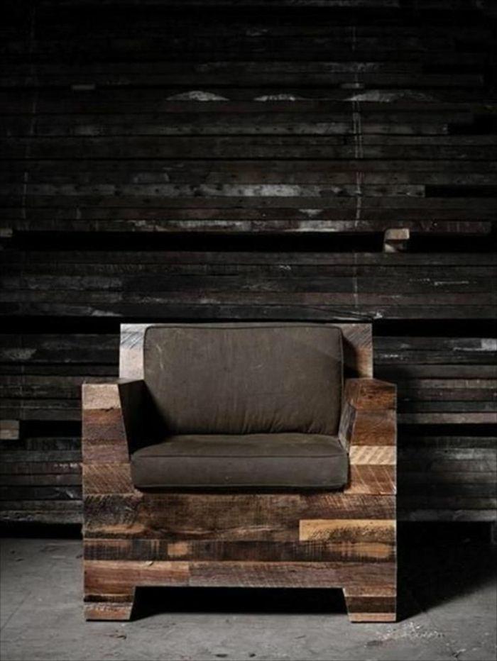 fauteuil en palette, design pas cher, meubles pas chers