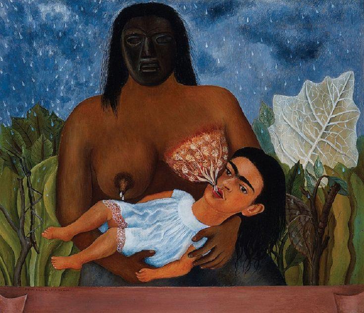 """""""Io e la mia balia"""", 1937. Frida Kahlo."""