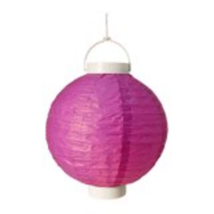 Pack Of 3 Lighted Battery Operated Purple Garden Patio Chinese Paper  Lanterns 8