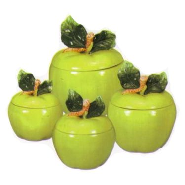 apple decorations for kitchen | ... DECORATIONS-Green Apple Tooth pick  holder Kitchen