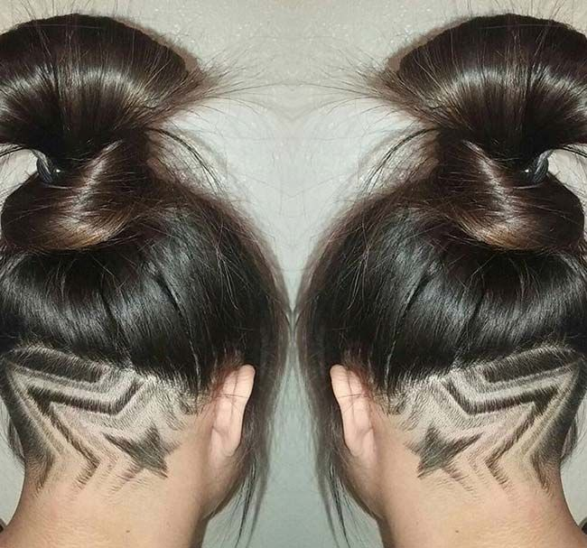 40 Undercut Hairstyles with Hair Tattoos for Women | Fashionisers