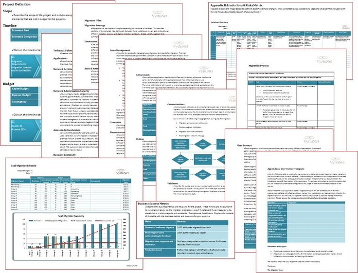 SaaS Migration Plan Template. Develop a plan and schedule