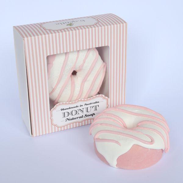Pink Swirl Donut Natural Australian Body Soap In Gift Box | Buy Donut Body Soaps Online
