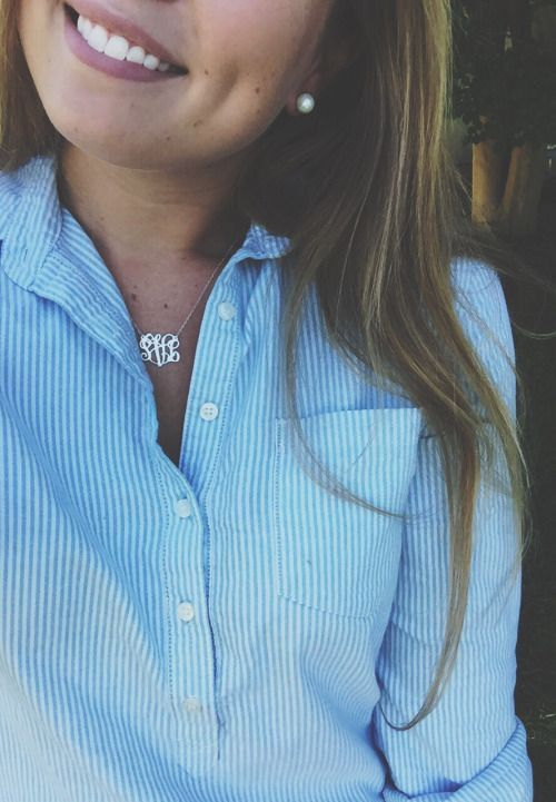 5 Pieces of Monogrammed Jewelry That We're Actually Obsessed With | http://www.hercampus.com/style/5-pieces-monogrammed-jewelry-were-actually-obsessed