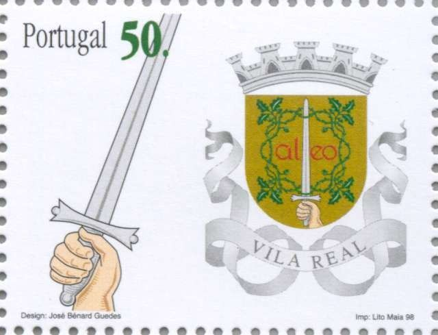 Sello: Vila Real (Portugal) (Districtswapens) Mi:PT 2283,Yt:PT 2248,Afi:PT 2517
